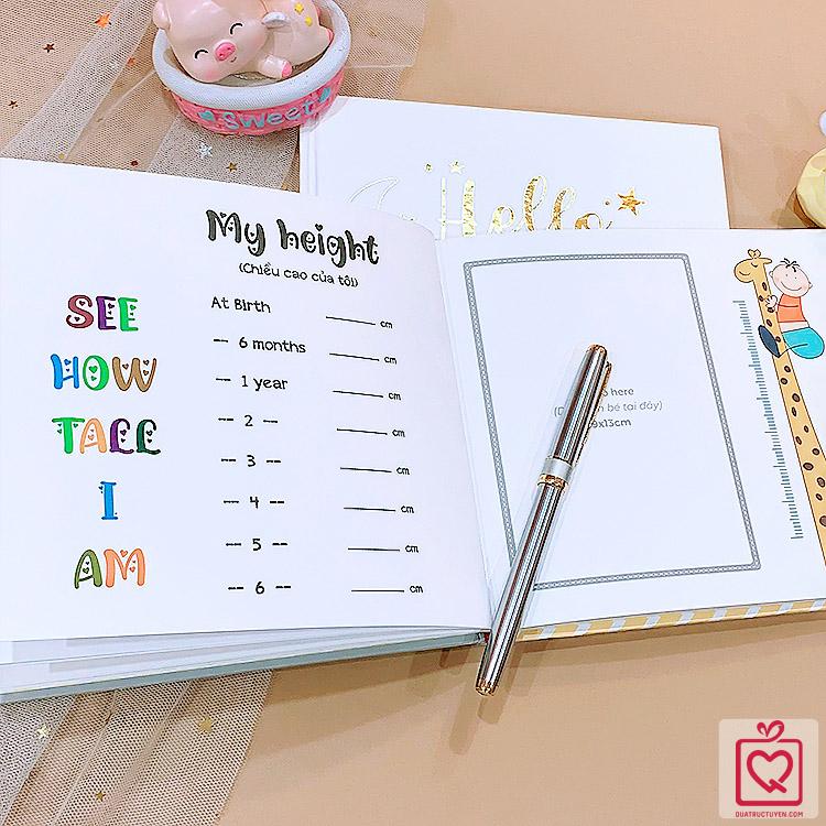 Sổ nhật ký cho bé