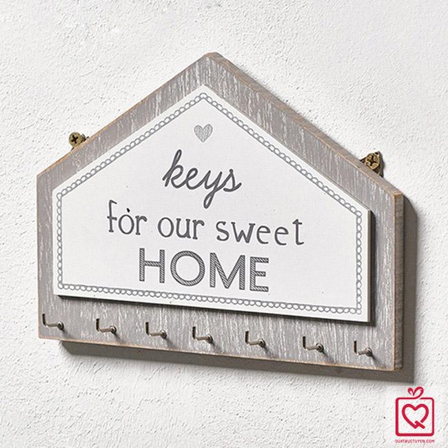 bảng gỗ treo chìa khóa