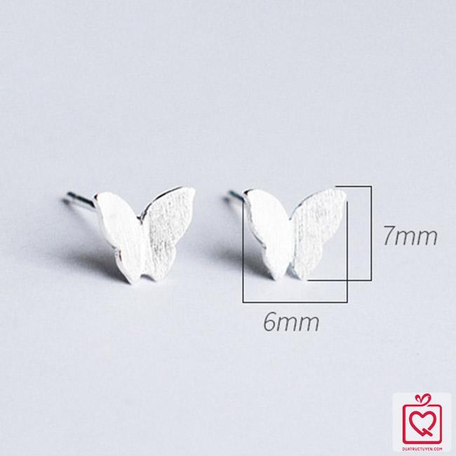 Bông tai bạc đôi bướm
