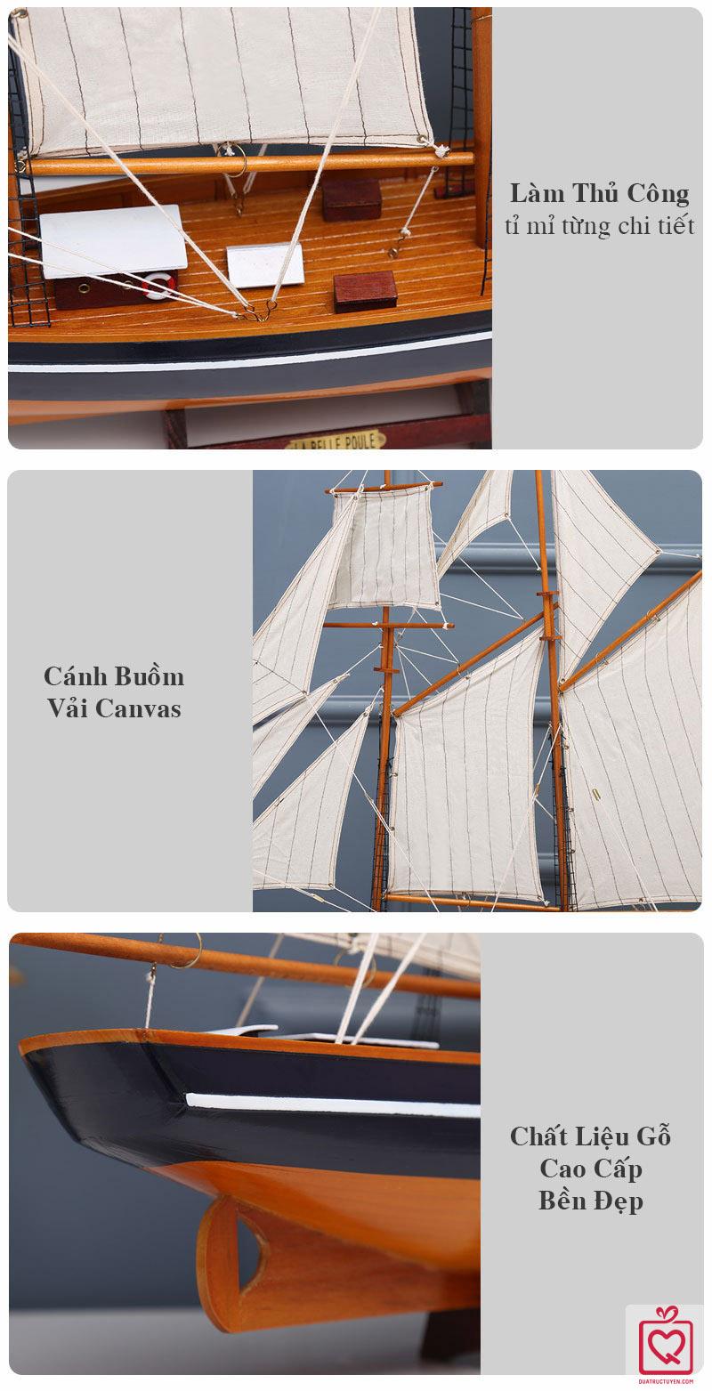 Mô hình thuyền buồm La Belle Poule