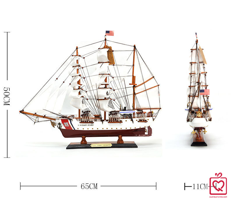 Mô hình thuyền buồm hải quân mỹ