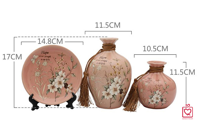 Bộ lục bình tranh đĩa hoa anh đào