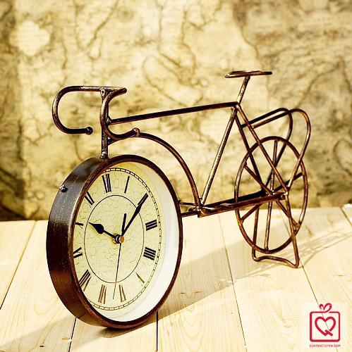 đồng hồ để bàn hình xe đạp cổ 1216