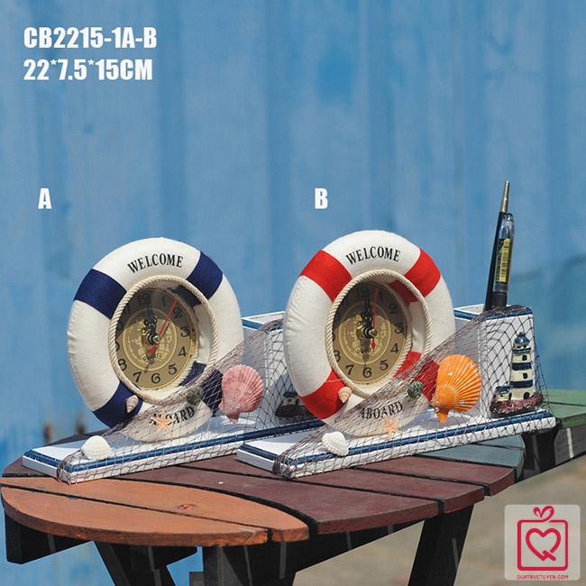 Đồng hồ để bàn phong cách biển