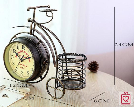 đồng hồ để bàn bánh cao cổ điển 0907