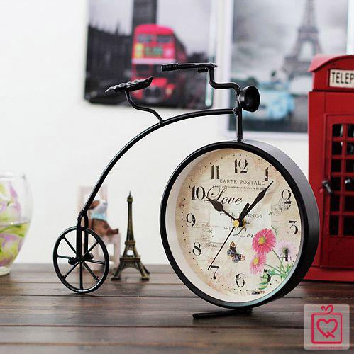 đồng hồ để bàn xe đạp bánh cao cổ điển 1218