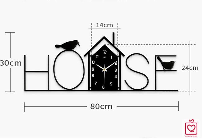 Đồng hồ treo tường chữ House