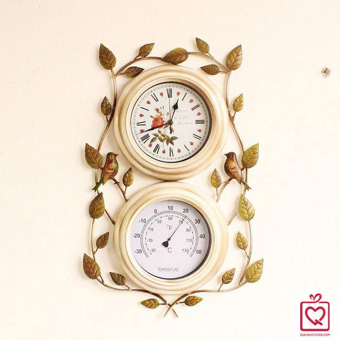 đồng hồ nhiệt kế treo tường
