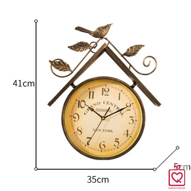 Đồng hồ treo tường hình tổ chim