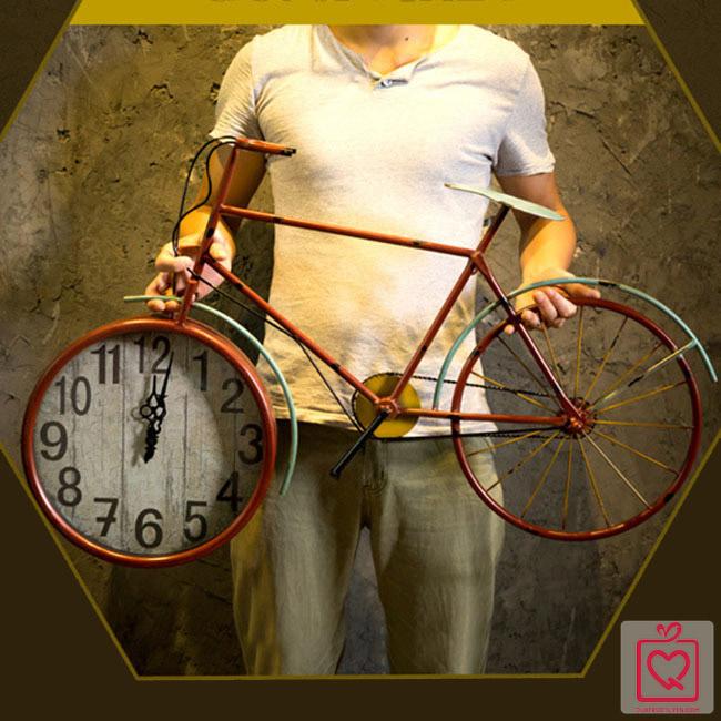 Đồng hồ treo tường xe đạp cổ
