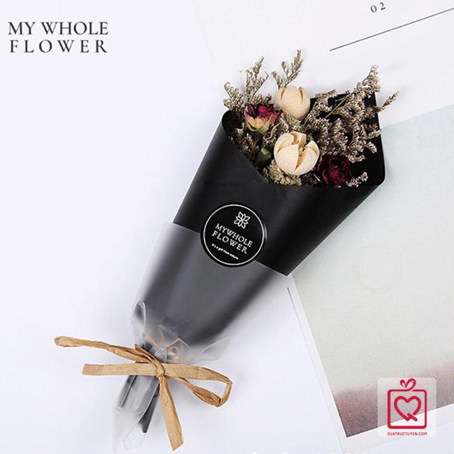 Hộp quà hoa khô tự nhiên