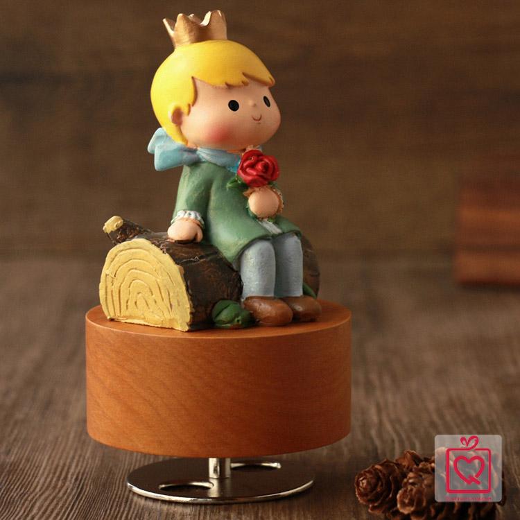 hộp nhạc gỗ hoàng tử bé