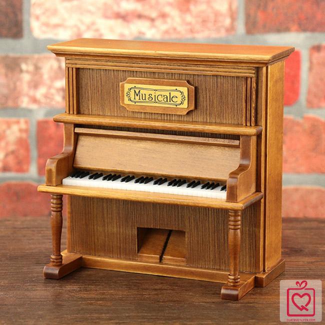 Hộp nhạc Piano gỗ cao cấp
