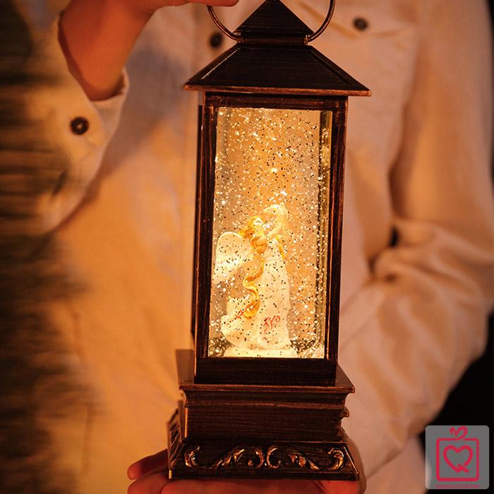 hộp nhạc đèn măng xông phun tuyết kim sa