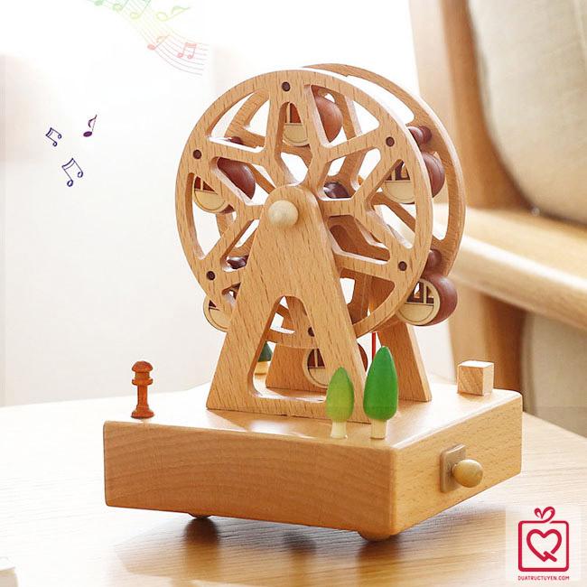 Hộp nhạc gỗ vòng đu quay