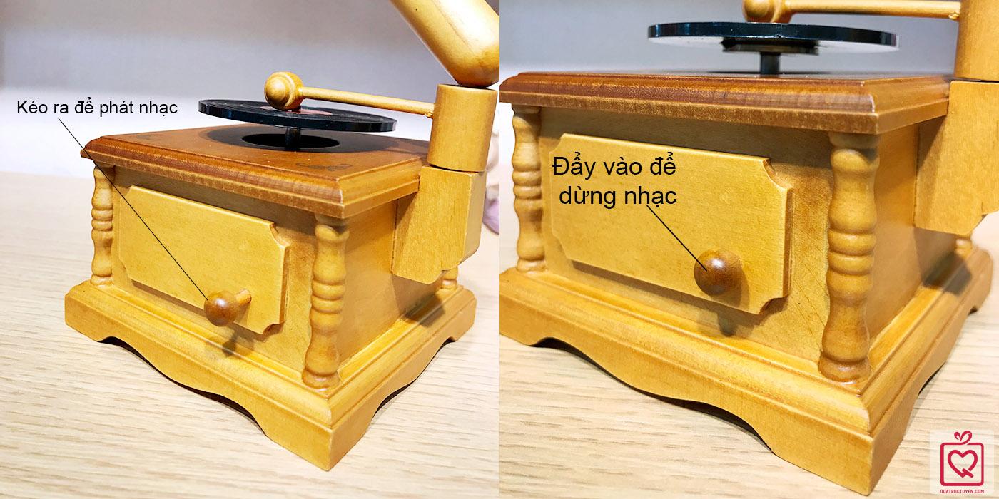 Hộp nhạc máy hát loa kèn