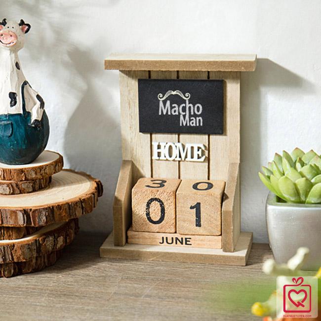 Lịch khối gỗ để bàn
