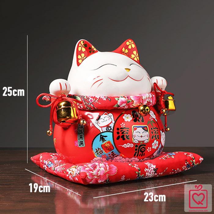Mèo thần tài Tấn Tài Tấn Lộc 25cm
