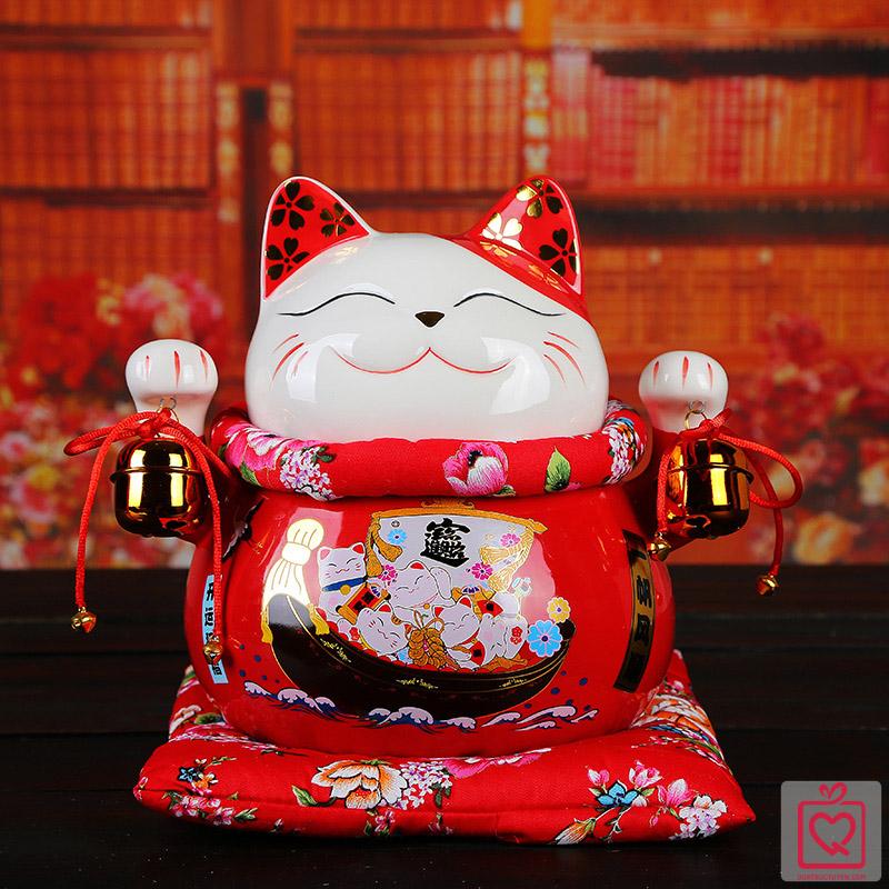 Mèo thần tài đỏ