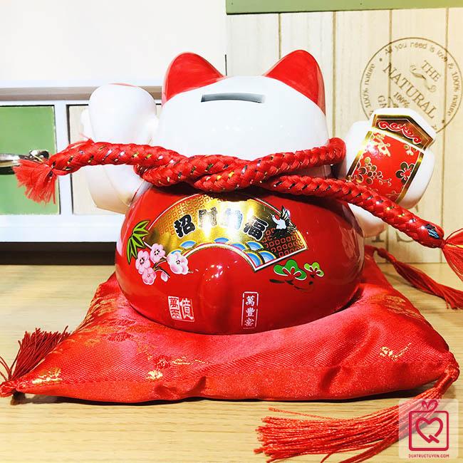 Mèo thần tài đỏ-Phát tài phú quý-70307Y