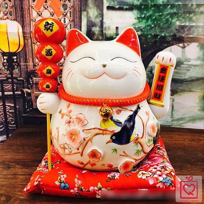 Mèo vẫy tay-Hồ lô Phúc Lộc Vô Biên-25cm