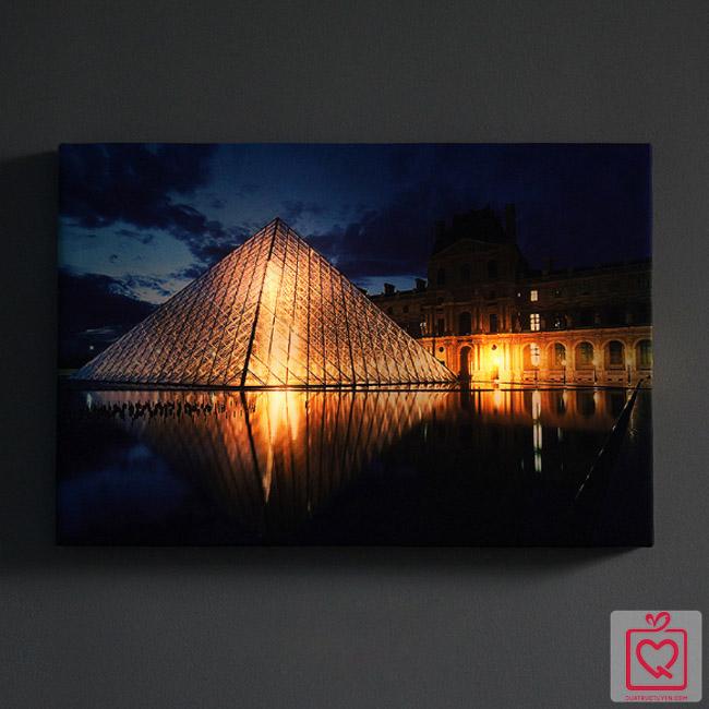 Tranh vải canvas đèn led