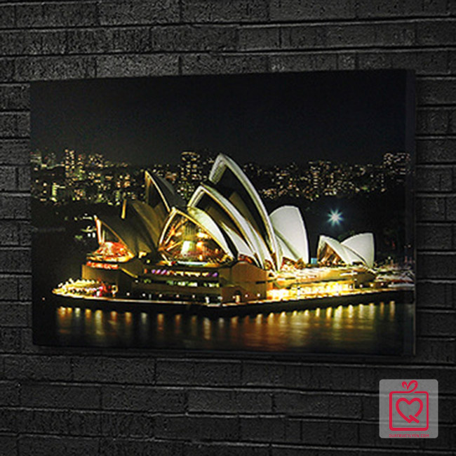Tranh vải canvas đèn led - Nhà hát Opera Sydney