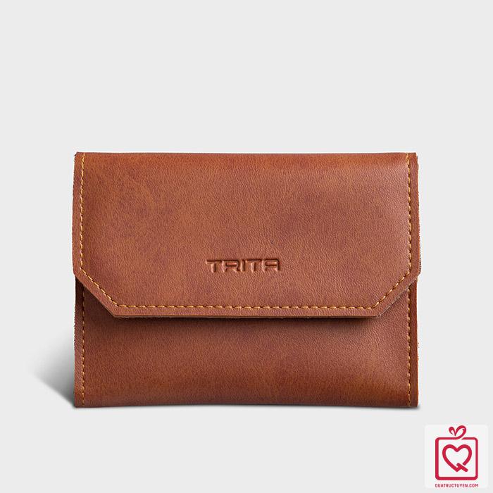 Ví da cầm tay mini đựng tiền đựng thẻ TRITA RVN06